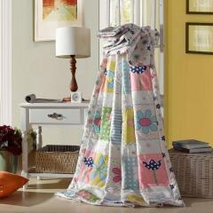 瀚庭 全棉夏凉被 空调被 夏日馨香 粉色 2.0x2.3m