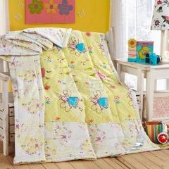 瀚庭 全棉夏凉被 空调被 小魔女 鹅黄色 2.0x2.3m