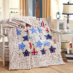 瀚庭 全棉夏凉被 空调被 时尚国界 五角星 2.0x2.3m