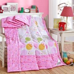 瀚庭 全棉夏凉被 空调被 趣味空间 玫粉色 2.0x2.3m