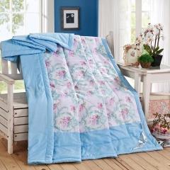 瀚庭 全棉夏凉被 空调被 玛奇朵蓝 花色 2.0x2.3m