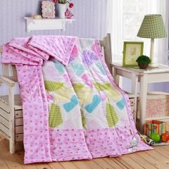 瀚庭 全棉夏凉被 空调被 格情空间 粉色 2.0x2.3m