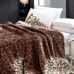 瀚庭 精品 拉舍尔毛毯 豹纹